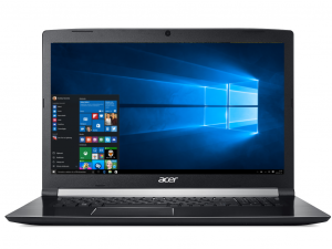 Acer Aspire A717-71G-54XC 17,3 FHD IPS/Intel® Core™ i5 Processzor-7300HQ/4GB/128GB+1TB/GTX 1050Ti 4GB/Win10/fekete laptop