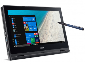 Acer Travelmate TMB118-R-P11R 11.6 HD Touch, Intel® Pentium N4200, 4GB DDR3L, 128GB SSD, Win10H, Fekete notebook