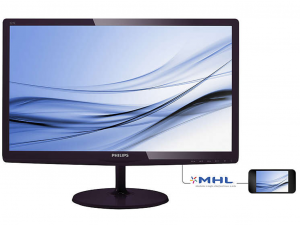 Philips IPS Monitor 21.5, 227E6EDSD/00 1920X1080, 16:9, 1000:1, 250 CD/M˛, 5MS, VGA/DVI-D/HDMI+MHL, Fekete