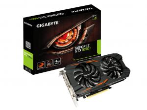 Gigabyte GeForce® GTX 1050 Ti Windforce OC 4G - Videokártya
