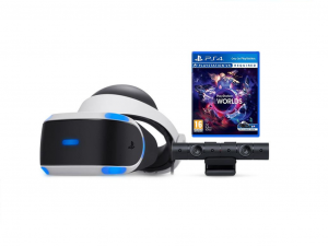 Sony PlayStation (PS4) VR headset kamerával és VR Worlds szoftverrel