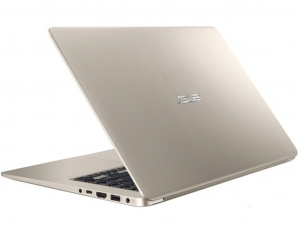 Asus VivoBook S15 S510UN-BR118 15,6 HD, Intel® Core™ i3 Processzor-7100U, 6GB, 1TB HDD, NVIDIA GeForce MX150 - 2GB, linux, arany laptop