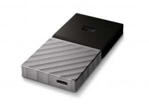 WD My Passport SSD 1TB - Fekete / Ezüst - WDBK3E0010PSL-WESN - Külső SSD