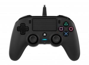 Nacon (PS4) fekete vezetékes kontroller
