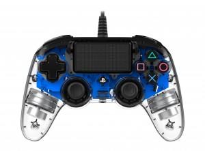 Nacon (PS4) áttetsző-kék vezetékes kontroller