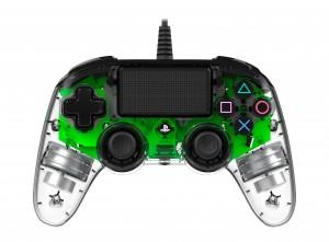 Nacon (PS4) áttetsző-zöld vezetékes kontroller