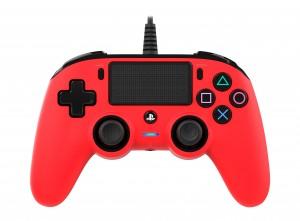 Nacon (PS4) piros vezetékes kontroller