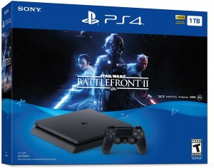 Sony Playstation 4 (PS4) Slim 1TB + StarWars Battlefront 2 Konzolcsomag