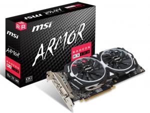 MSI Radeon RX 580 8GB GDDR5 256bit PCIe (RX 580 ARMOR 8G OC) Videokártya
