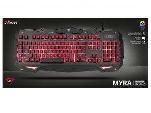 Trust GXT 840 Myra - USB - Magyar Gamer Billentyűzet