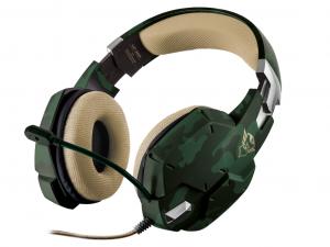 Trust GXT 322C Carus - Dzsungel álcafestés - Gamer fejhallgató