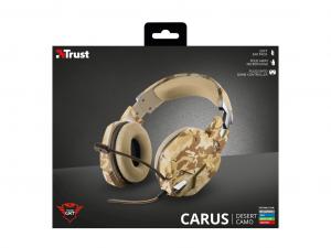 Trust GXT 322D Carus - Sivatag Álcafestés - Gamer fejhallgató