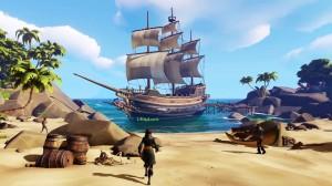 Mircosoft Xbox One S (Slim) 1TB Játékkonzol + Sea Of Thieves játékprogram