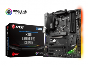 MSI H370 GAMING PRO CARBON - S1151 - Intel® H370 - ATX Alaplap
