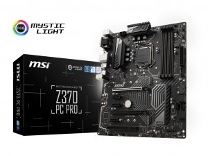 MSI Z370 PC PRO - S1151 - Intel® Z370 - ATX Alaplap