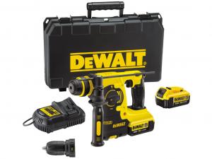 DeWALT DCH254M2-QW 18.0 V-os XR Li-Ion Nagyteljesítményű 3-üzemmódú akkumulátoros fúrókalapács kofferben