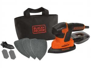 Black & Decker KA2000-QS 120W Új generációs Mouse csiszoló 6 tartozékkal tároló táskában