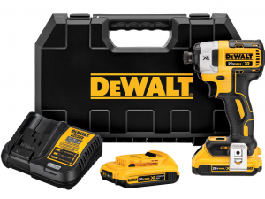 DeWALT DCF887D2-QW XR 18V-os 3 üzemmódú kefe nélküli ütvecsavarozó 2.0Ah tárolóban