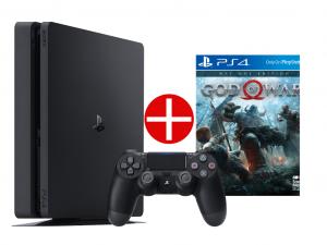 Sony Playstation 4 (PS4) Slim 500GB Jet Black- Fekete Játékkonzol + Ajándék God Of War játékprogram! Az Akció 04.26-ig érvényes!