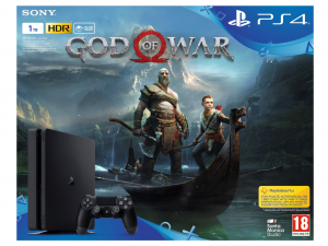 Sony Playstation 4 (PS4) Slim 1TB + God Of War konzolcsomag