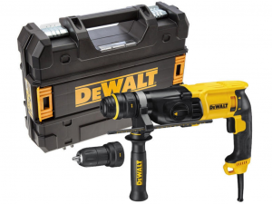 DeWALT D25134K-QS 26mm-es 3 üzemmódú SDS plus fúrókalapács cseretokmánnyal kofferben
