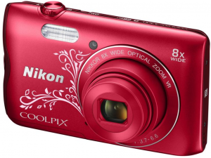 Nikon Coolpix A300 vörös lineart digitális fényképezőgép