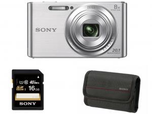 Sony DSC-W830 ezüst fényképezőgép + 16GB kártya + tok