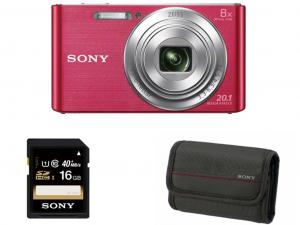 Sony DSC-W830 rózsaszín fényképezőgép + 16GB kártya + tok