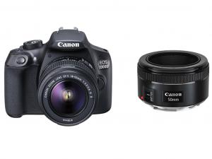 Canon EOS 1300D fényképezőgép váz + EF-S 18-55mm + EF 50mm objektív
