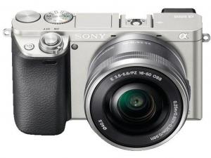 Sony Alpha 6000 ezüst fényképezőgép + 16-50mm objektív