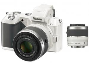 Nikon 1 V2 kit + 10-30mm + 30-110mm fehér fényképezőgép + cserélhető objektívek
