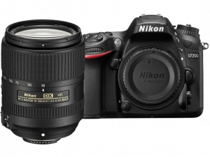 Nikon D7200 fekete fényképezőgép + 18–300 mm f/3,5-6,3 AF-S DX NIKKOR VR