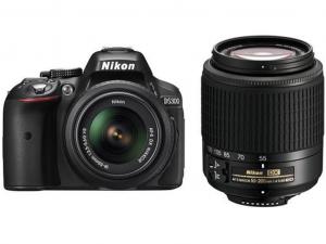 Nikon D5300 fekete fényképezőgép + 18-55 AF-P VR + 55-200 VR II kit