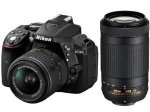 Nikon D5300 fekete fényképezőgép + 18-55 AF-P VR + 70-300 AF-P VR