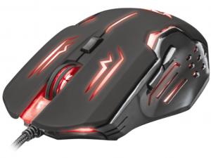 Trust GXT 108 Rava Illuminated - USB - Fekete - Gamer Egér