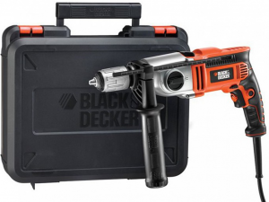 Black & Decker KR911K-QS 910W kétsebességes ütvefúró kofferben