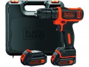Black & Decker BDCDD12KB-XK 10.8V Kompakt Li-Ion akkus fúró-csavarozó kofferben