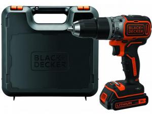 Black & Decker BL188K-QW 18V kefe nélküli Li-Ion kétsebességes ütvefúró-csavarozó kofferben