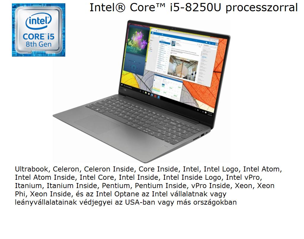 Lenovo Ideapad 330S-15IKBR 81F500GUHV 15.6 FHD IPS, Intel® Core™ i5 Processzor-8250U, 4GB, 1TB HDD, AMD Radeon 540 - 2GB, Dos, szürke notebook