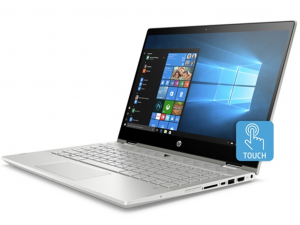 HP Pavilion x360 14-CD0007NH 14 FHD Touch, Intel® Core™ i7 Processzor-8550U, 8GB, 256GB SSD, NVIDIA GeForce MX130 - 4GB, Win10, ezüst notebook
