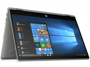 HP Pavilion x360 14-CD0002NH 14 FHD IPS Touch, Intel® Core™ i3 Processzor-8130U, 4GB, 1TB HDD + 128GB SSD, Win10, ezüst notebook
