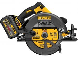 DeWALT DCS575T2-QW 54V XR FLEXVOLT Körfűrész 2 akkumulátorral felszerelve kofferben