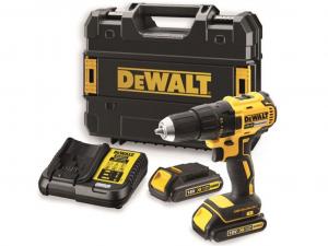 DeWALT DCD777S2T-QW 18V XR kefe nélküli kompakt fúró-csavarozó készletben