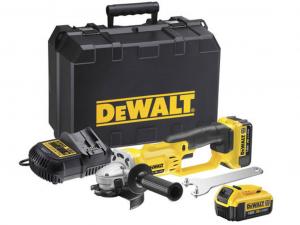 DeWALT DCG412M2-QW 18 V-os XR Li-Ion sarokcsiszoló készletben