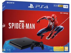 Sony PlayStation 4 Slim 1TB Spider-Man PS4 játékkonzol és játékszoftver