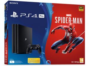 Sony PlayStation 4 Pro 1TB Spider-Man PS4 játékkonzol és játékszoftver