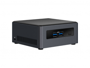 Intel® NUC 7 Business NUC7i3DNHNC PC- Intel® Core™ i3 Processzor (7th Gen) i3-7100U 2.40 GHz - 4 GB DDR4 SDRAM - 1 TB HDD - Windows 10 Pro - Fekete - Szürke