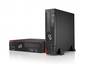 Fujitsu ESPRIMO D556/2/E85+ asztali számítógép - Intel® Core™ i5 Processzor (7th Gen) i5-7400 3 GHz - 8 GB DDR4 SDRAM - 256 GB SSD - Small Form Factor - DVD-író - Intel® HD Graphics 630 - Magyar billentyűzettel és egérrel