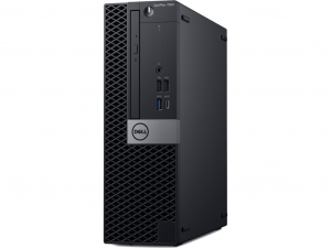 Dell Optiplex 7070SF számítógép W10Pro Ci5 9500 3.0GHz 8GB 256GB + VGAport Fekete Asztali Számítógép
