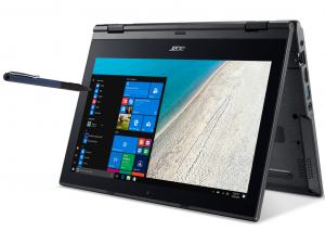 Acer TravelMate TMB118-RN-P8N5 notebook - Intel® Pentium® Quad Core™ N4200 - 4GB DDR4 - 256 GB SSD - Intel® HD Graphics 505 - Windows 10 - fekete